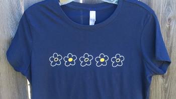 Whimsical Flowers shirt