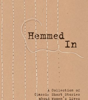 """Hemmed In book cover. Incomplete stitched """"bars"""" over the title."""
