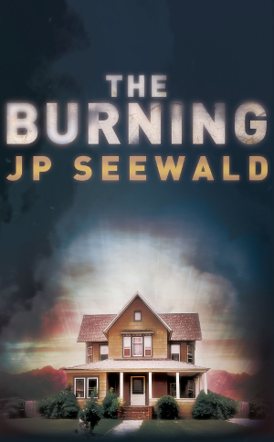 The Burning book cover, a house with a smoke effect